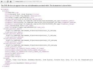 ejemplo de xml del API vimeo